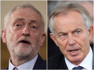 Jeremy Corbyn and Tony Blair
