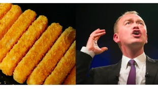 Farron 'welcomes challenge' of fish finger