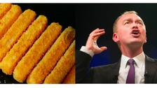 It is not clear who the fish finger is.