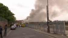 Crews tackle large fire at industrial estate