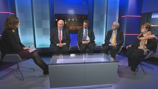 On Anglia Late Edition were Charles Clarke (Lab), Peter Aldous MP (Con), Sir Bob Russell (LD) and Margot Parker MEP (Ukip)