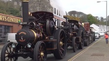 Heavy haulage procession kicks off IOM Festival of Steam