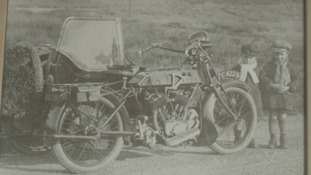 This photo was taken in 1924, when Alan's uncle took him and his brother on his motorcycle.