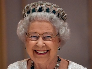 The Queen likes a tiara.