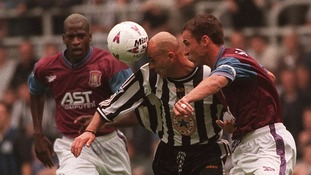 Ugo Ehiogu and Gareth Southgate were a tough match for the Premier League's best strikers during their late 1990s heyday.