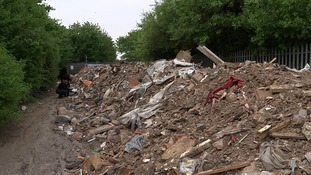 70 metre pile of waste dumped in Newham