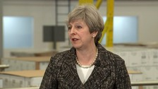 The prime minister made the comments during a visit to a factory in her Maidenhead constituency.