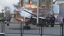 Royal Gun Salute held to mark Queen's birthday