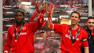 Ugo Ehiogu and Gareth Southgate won the Carling Cup with Middlesbrough in 2004.