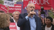 Jeremy Corbyn: Labour leader makes election visit to Cardiff