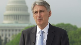 Chancellor Philip Hammond speaks in Washington.