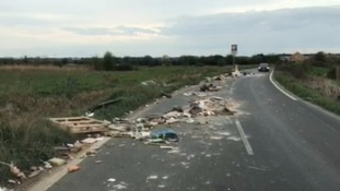 Video footage shows the extent of the fly tipping problem.