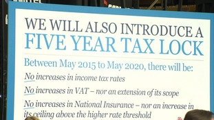 The Chancellor hinted the Tories could drop a pledge not to raise income tax, national insurance or VAT.