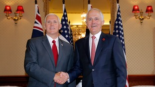 Mike Pence and Malcolm Turnbull