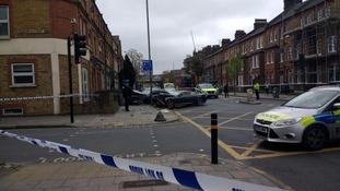 Scene of serious crash in Battersea