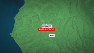 The accident happened on the A591 in Keswick.