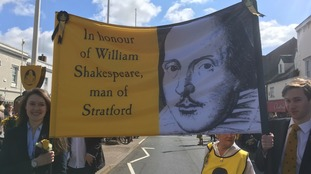 Hundreds take to the streets to celebrate Shakespeare's 453rd birthday parade