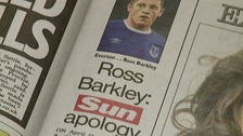 Sun apology over Ross Barkley 'gorilla' remark