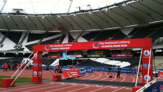 View of official finish line