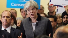 Theresa May speaks at Netherton Conservative Club in Dudley.