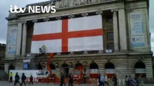 Watch: Have you seen a St.George's flag bigger than this?