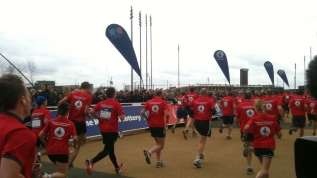 Runners set off on race