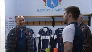 England supremo Eddie Jones puts on special training session to thank Sudbury coach