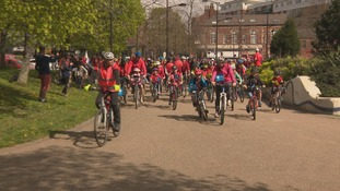 Hundreds of cyclist take to Sheffield streets for BigRide2017