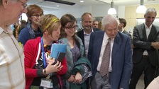 Sir David Attenborough visits Cambridge for conservation event