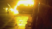 Couple recall the horror of when their car was torched