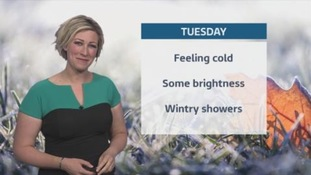 Turning colder from the north overnight