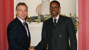 Tony Blair supported Rwandan president Paul Kagame, and continues to advise him