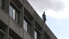 One of the controversial Anthony Gormley sculptures at the UEA in Norwich.