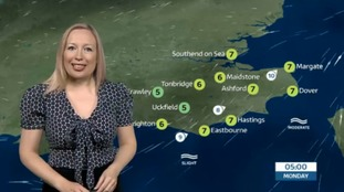 Sunday evening's weather for the east