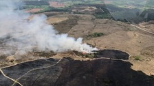 Major fire burns through large area of Devon grassland