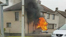 Car driven into house in Larne arson attack