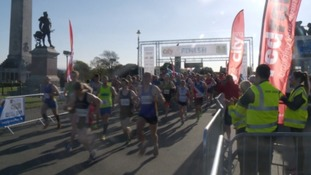 Thousands take to the streets for Plymouth's half marathon