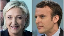 French election: Le Pen and Macron though to run-off, projections say