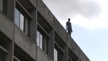 Sculptor defends work at UEA over 'suicide statue' criticism