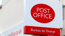 The Post Office was targeted on Saturday.