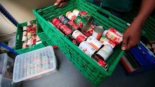 The Trussell Trust says there's been an  increase in foodbank use
