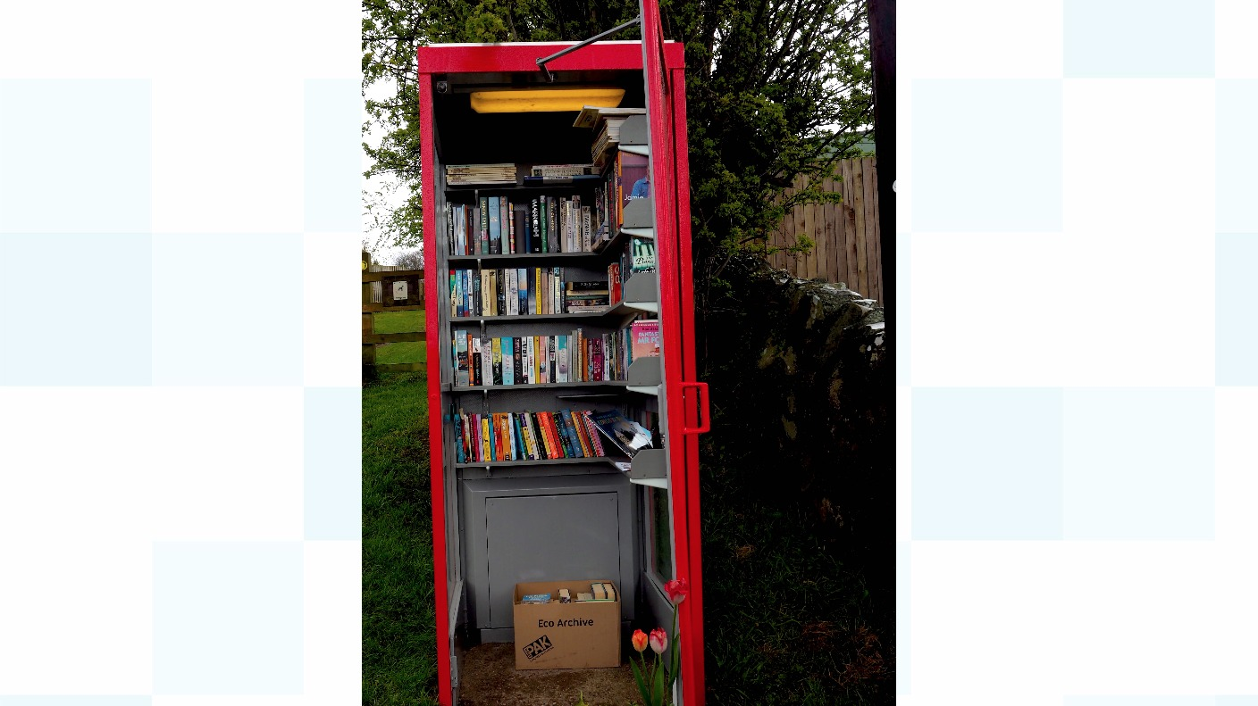 Villagers Save Phone Box By Converting Into Mini Library
