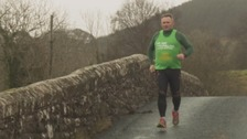Cumbrian marathon man crosses finish line on 100th race