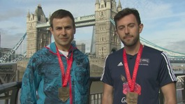 Swansea marathon runner helps exhausted athlete over finish line