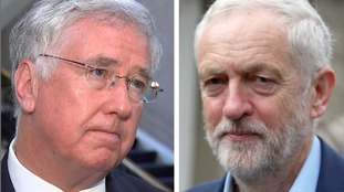 Fallon issues 'security threat' warning after Corbyn comments