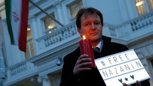 Richard Ratcliffe led a vigil outside the Iranian Embassy in London last year.
