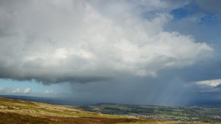 A wintry shower over Meltham