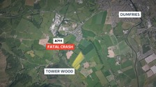 Two people killed in Dumfries crash on A711