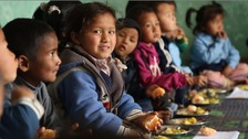 Charity encourages education in Nepal through free school meals