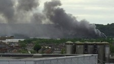 Crews tackle fire at Cardiff waste firm